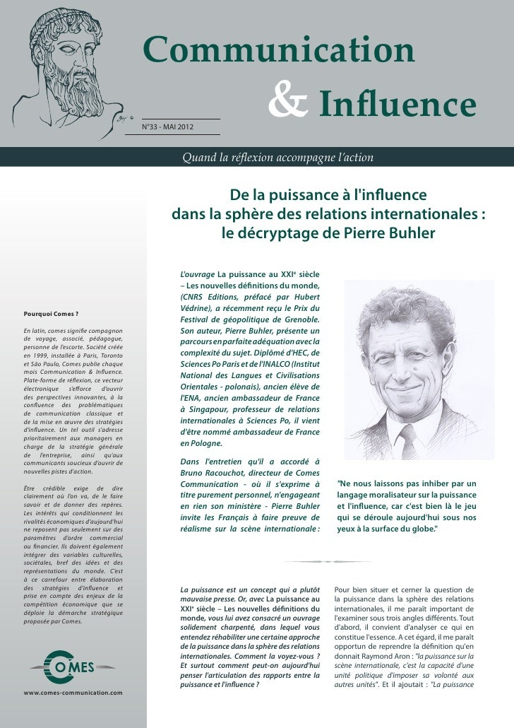 Communication                                       	 	 	 	 & Influence                                       N°33 - MAI 2...