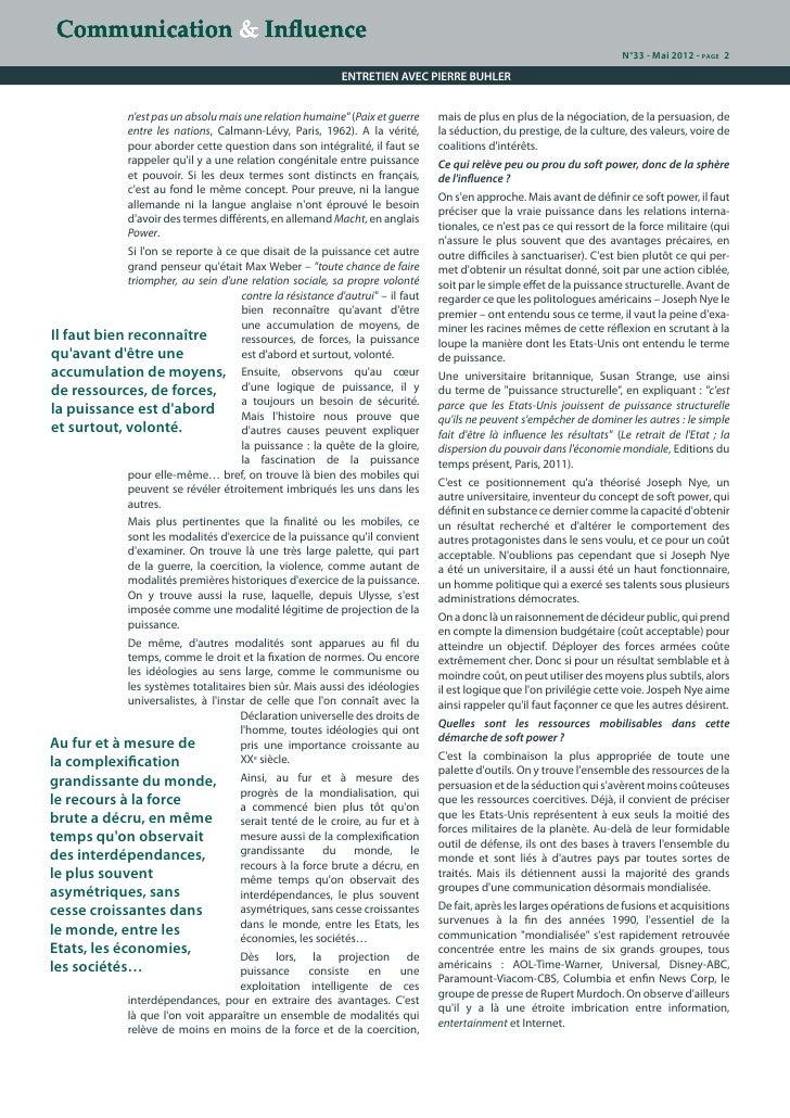 De la puissance à l'influence dans la sphère des relations internationales : le décryptage de Pierre Buhler Slide 2