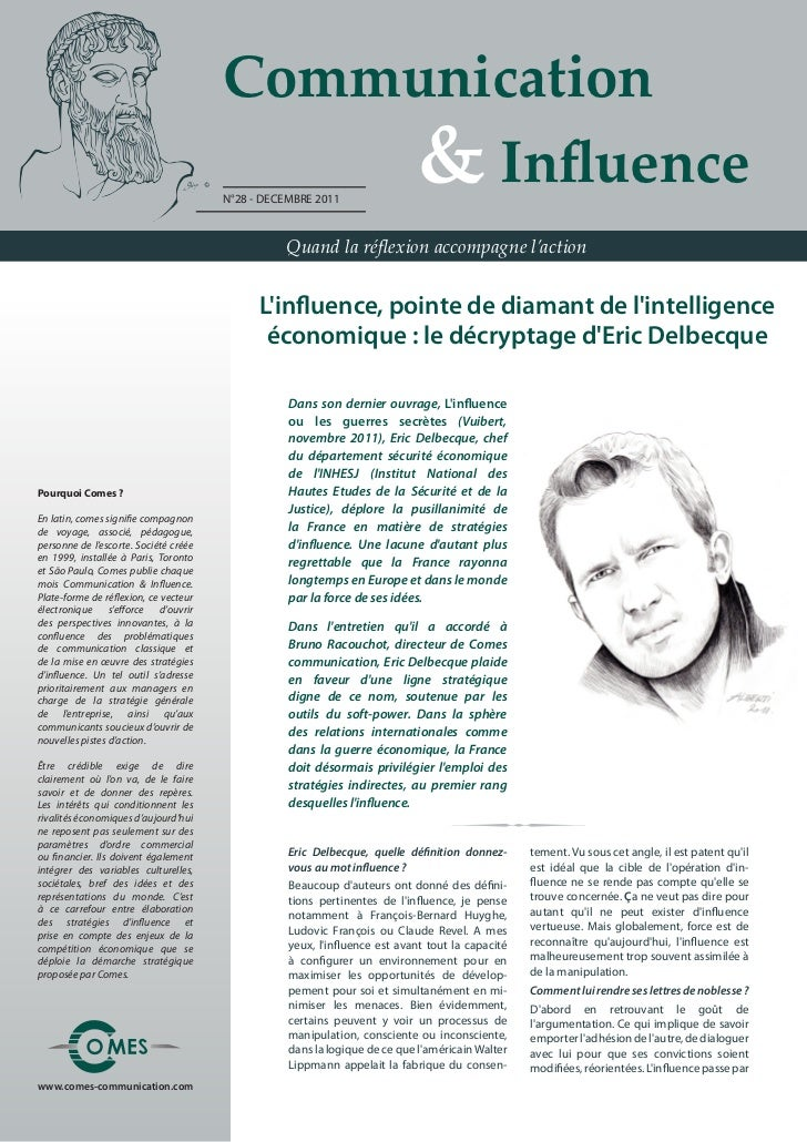Communication                                       	 	 	 	 & Influence                                       N°28 - DECEM...