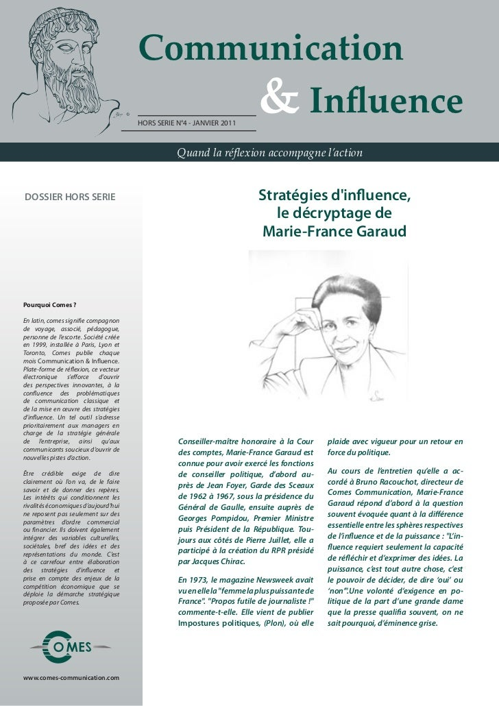 Communication                                       				 & Influence                                       HORS SERIE N°4 ...