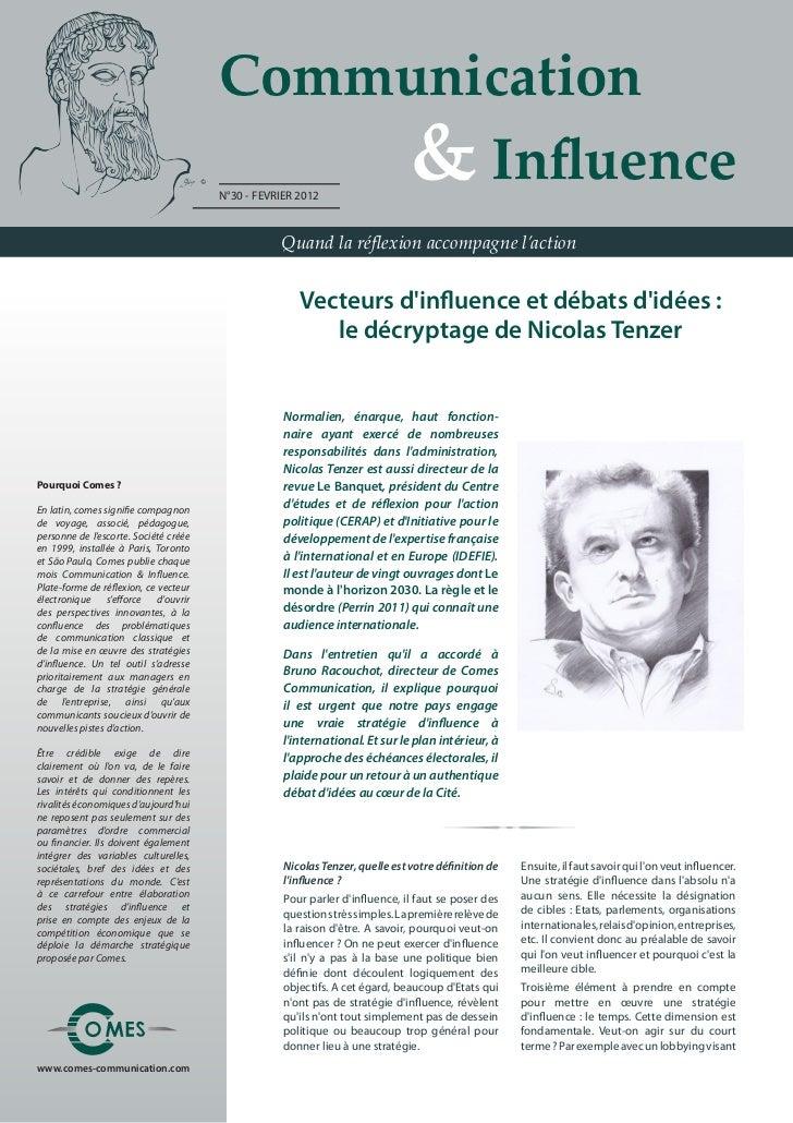 Communication                                           & Influence                                       N°30 - FEVRI...