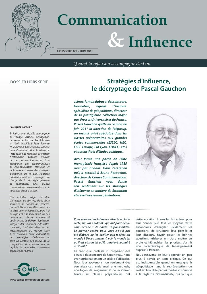 Communication                                       	 	 	 	 & Influence                                       HORS SERIE N...