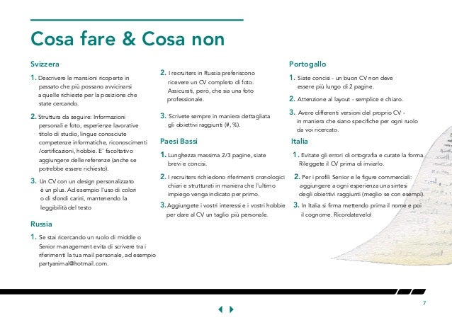Curriculum Vitae Svizzera Modello Firmakoek