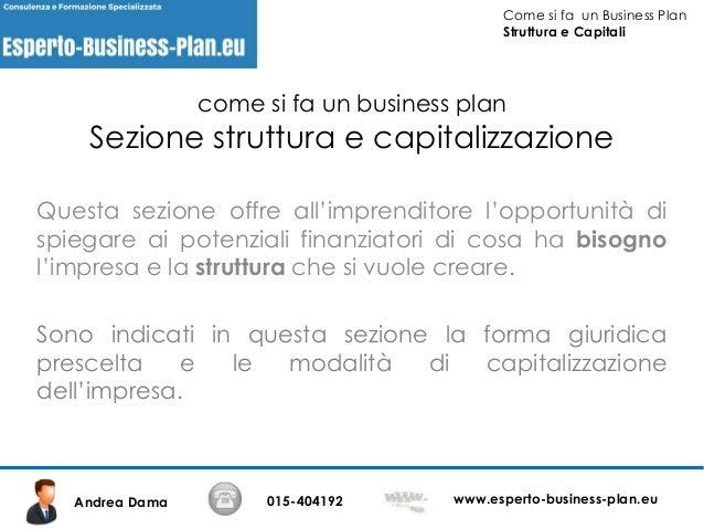 come fare un business plan pdf