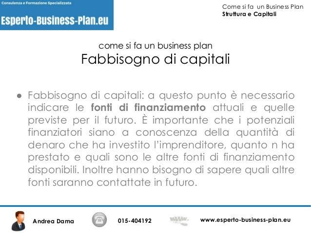 Esempio business plan ditta individuale