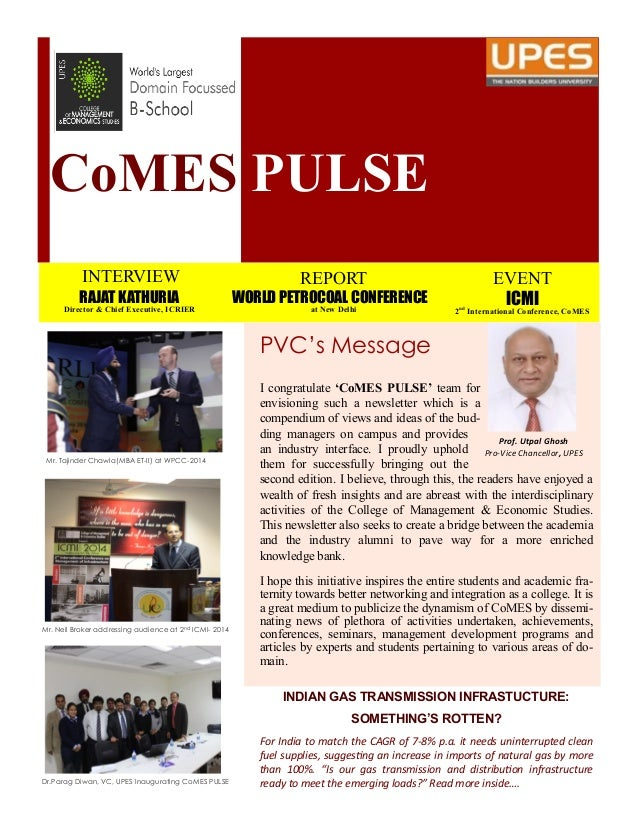 CoMES PULSE INTERVIEW RAJAT KATHURIA Director & Chief Executive, ICRIER REPORT WORLD PETROCOAL CONFERENCE at New Delhi EVE...