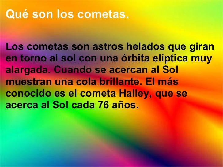 7,Cometas Slide 2