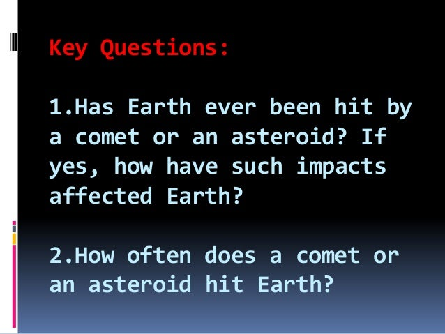why does it when an asteroid hits earth the explode - photo #33