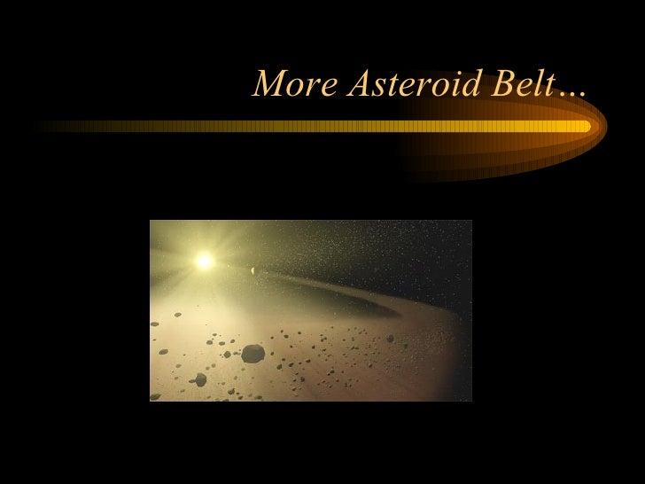 More Asteroid Belt…
