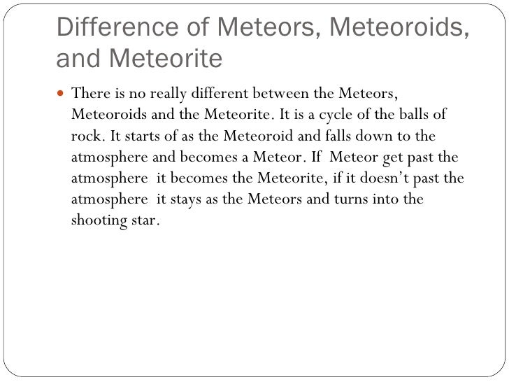 Comets, Asteroids, And Meteors Project 12