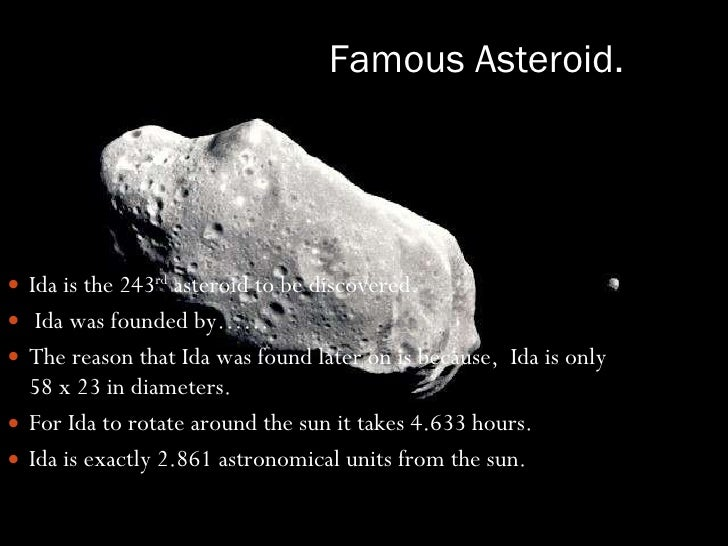 two famous asteroids -#main