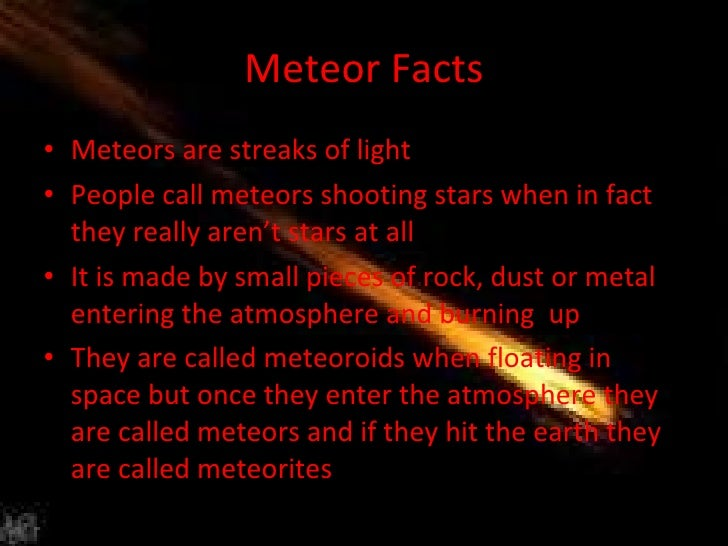 Facts About Meteors For Kids | Kids Matttroy