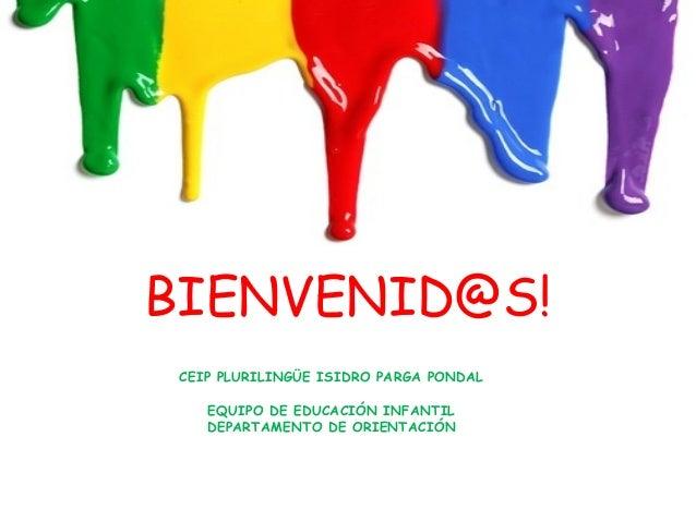 BIENVENID@S! CEIP PLURILINGÜE ISIDRO PARGA PONDAL EQUIPO DE EDUCACIÓN INFANTIL DEPARTAMENTO DE ORIENTACIÓN