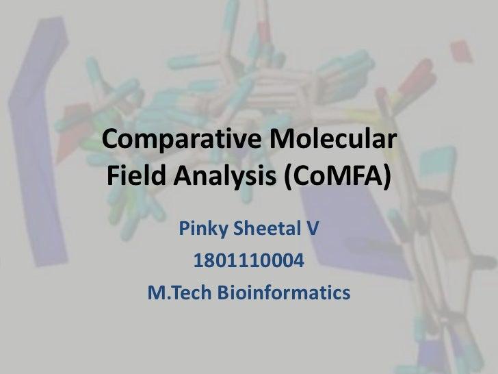 Comparative MolecularField Analysis (CoMFA)      Pinky Sheetal V        1801110004   M.Tech Bioinformatics