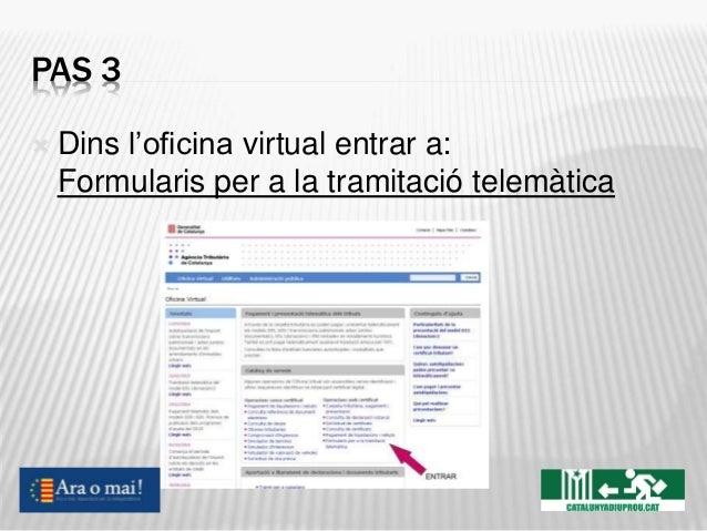 Com fer sobirania fiscal on line for Oficina virtual de tramits cap