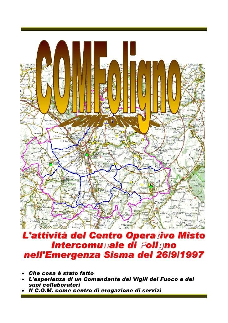 L''attività del Centro Operativo Misto    attività del Centro Operati                             t ivo Misto        Inter...