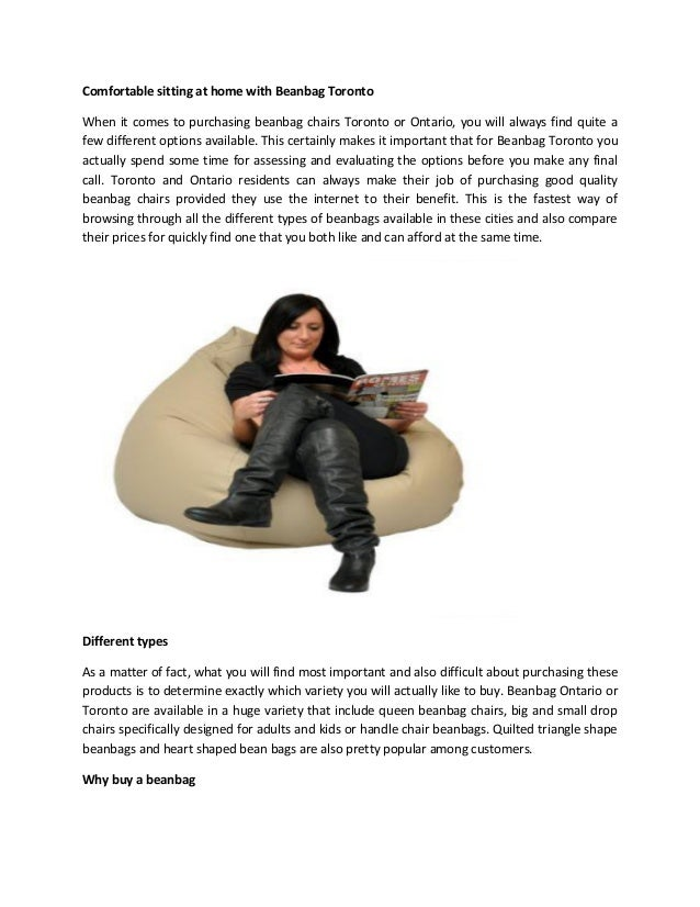 Comfortable Sitting At Home With Beanbag Toronto When It Comes To Purchasing Chairs Or