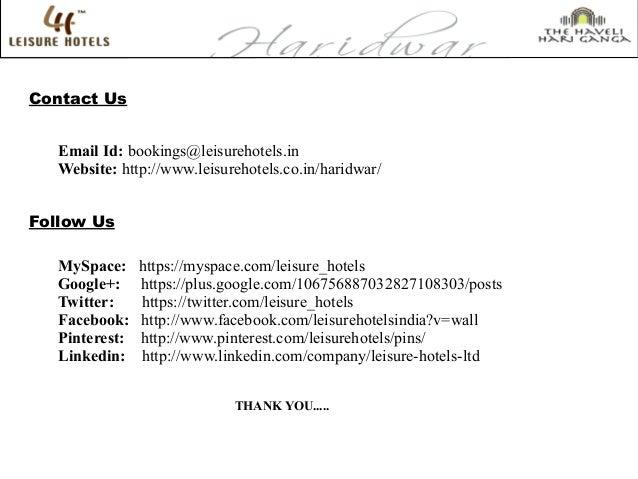 Contact Us Email Id: bookings@leisurehotels.in Website: http://www.leisurehotels.co.in/haridwar/ Follow Us MySpace: https:...