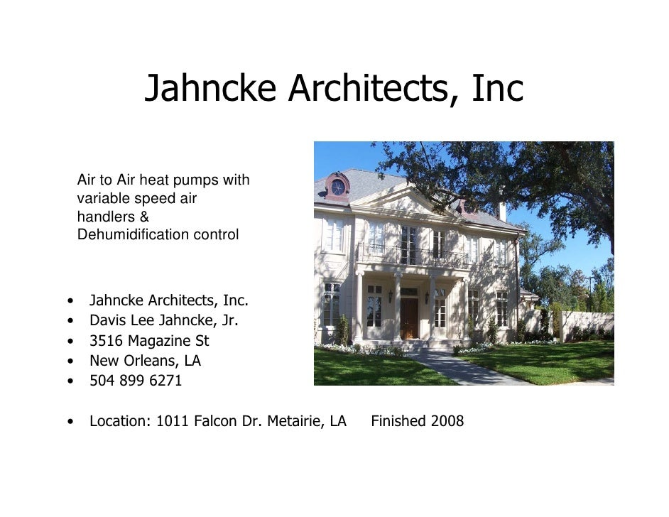 Comfort engineered systems inc local architects slide show for Local architects