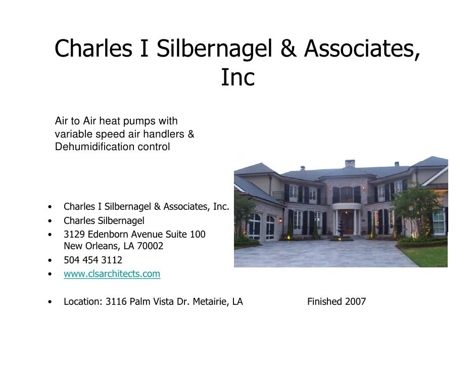 Comfort engineered systems inc local architects slide show for Metairie architects