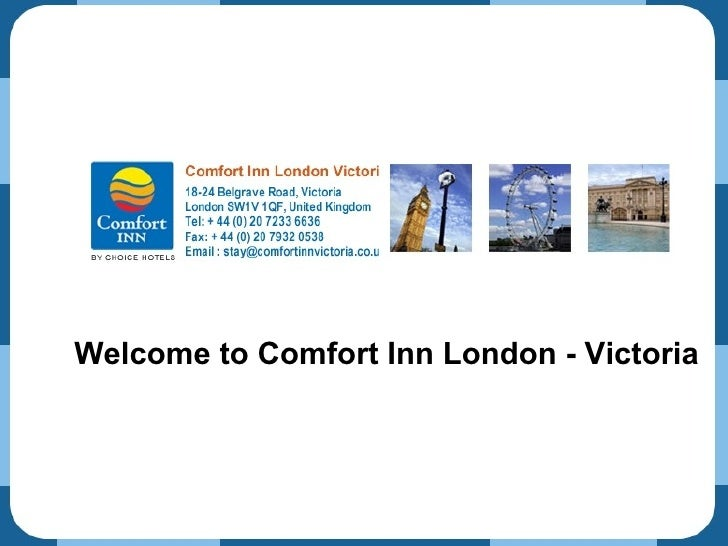 Welcome to Comfort Inn London - Victoria