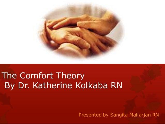The Comfort Theory By Dr. Katherine Kolkaba RN  Presented by Sangita Maharjan RN