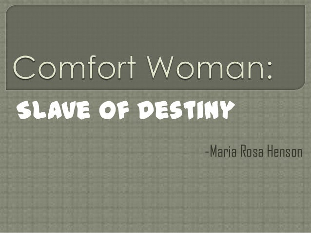 -Maria Rosa HensonSlave of Destiny