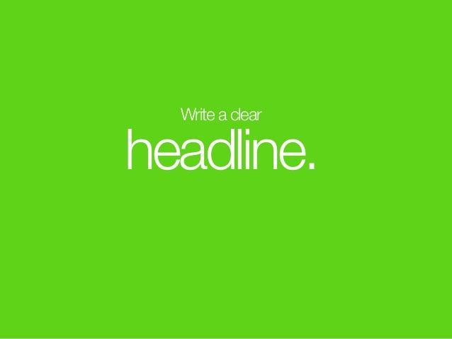 Write a clear headline.