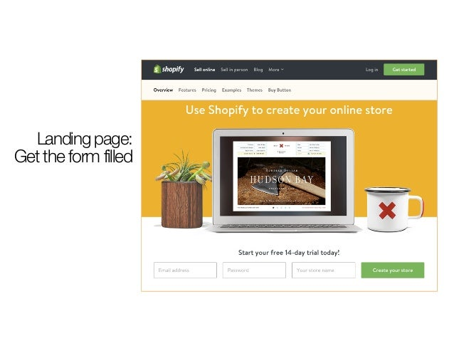 Landing page: Get the form filled