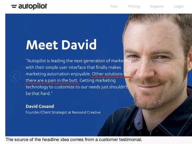 Actual landing page: marketing jargon