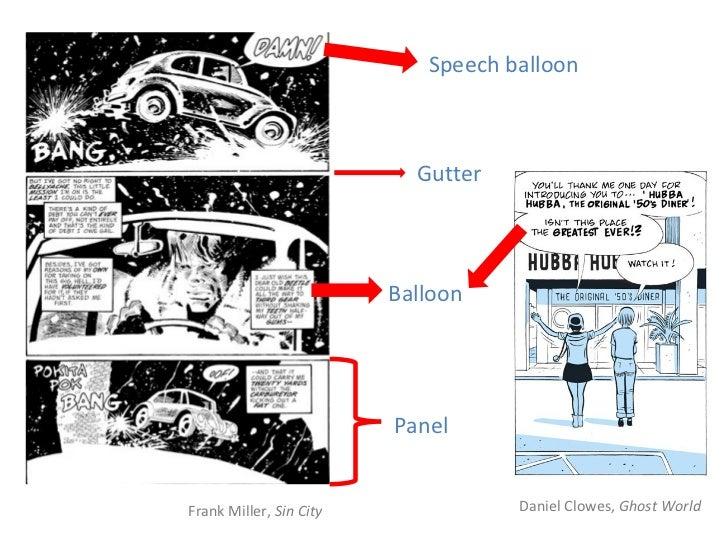 Speech balloon                           Gutter                         Balloon                         PanelFrank Miller,...