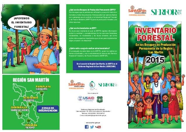 www.serfor.gob.pe ¡APOYEMOS EL INVENTARIO FORESTAL! INVENTARIO FORESTAL En los Bosques de Producción Permanente de la Regi...