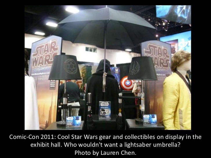Comic-Con 2011: Cool Star Wars gear and collectibles on display in the       exhibit hall. Who wouldnt want a lightsaber u...