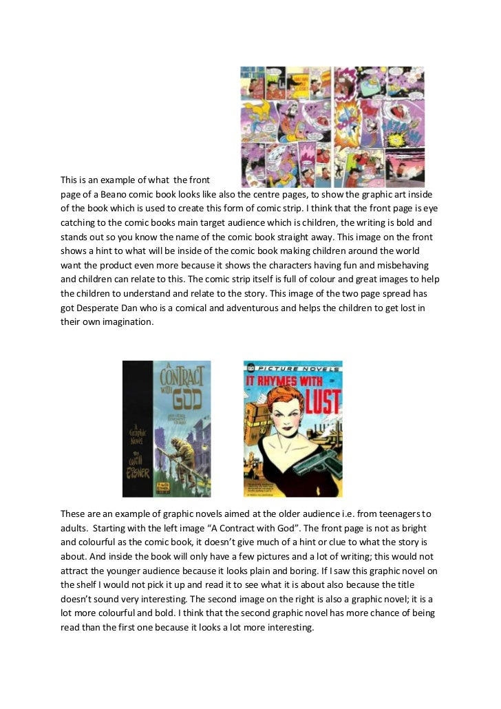 comic books and graphic novels essay 2