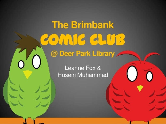 The Brimbank Comic Club @ Deer Park Library Leanne Fox & Husein Muhammad