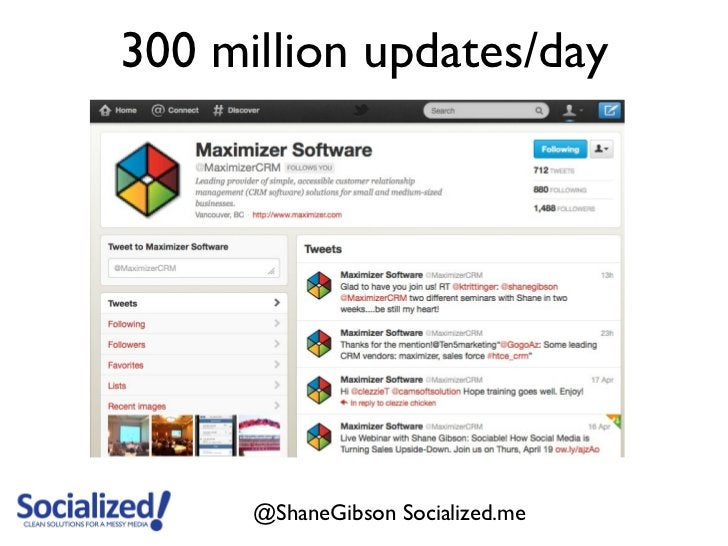 300 million updates/day      @ShaneGibson Socialized.me