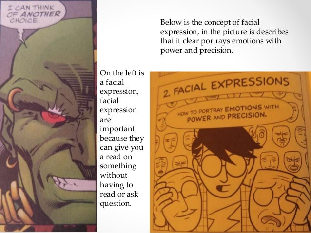 On the left is a facial expression, facial expression are important because they can give you a read on something without ...