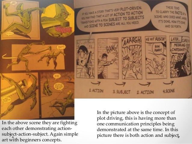 Plot-Driven • Pg 18 • Picture demonstrating action-subject-action In the above scene they are fighting each other demonstr...