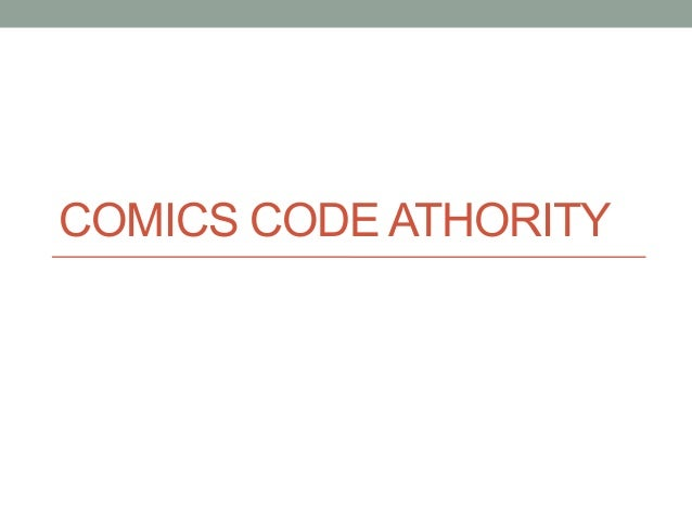 COMICS CODE ATHORITY