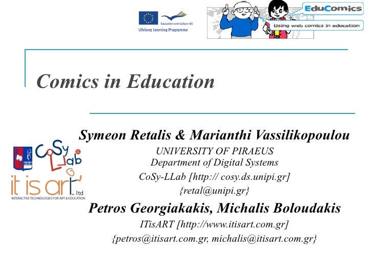 Symeon Retalis & Marianthi Vassilikopoulou UNIVERSITY OF PIRAEUS Department of Digital Systems CoSy-LLab [ http://cosy.ds....