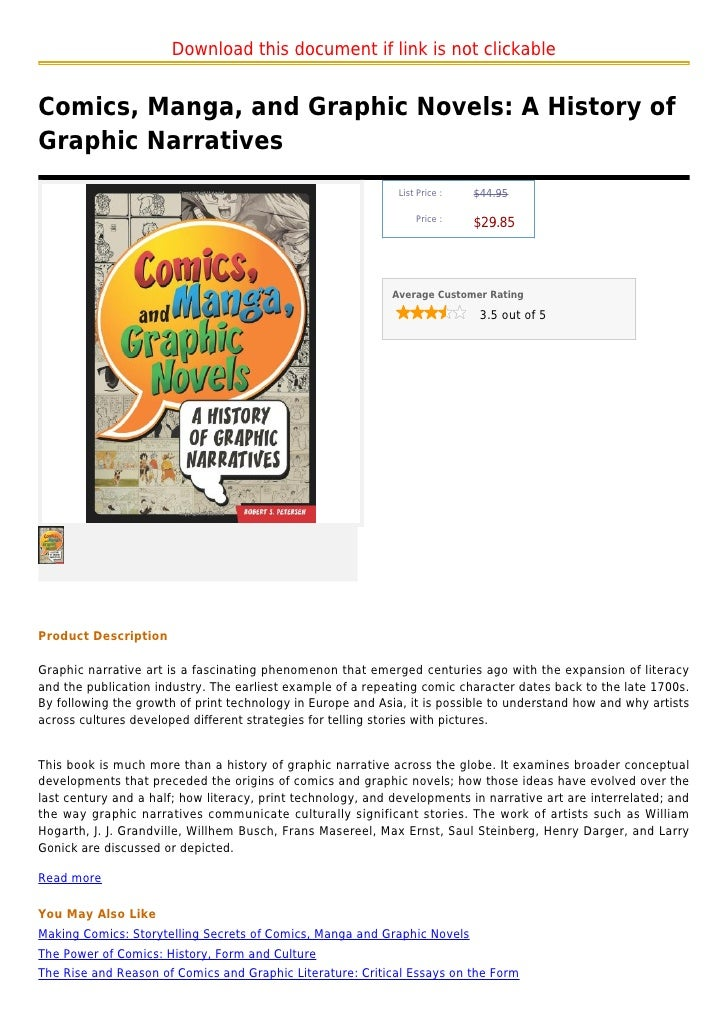 Download this document if link is not clickableComics, Manga, and Graphic Novels: A History ofGraphic Narratives          ...