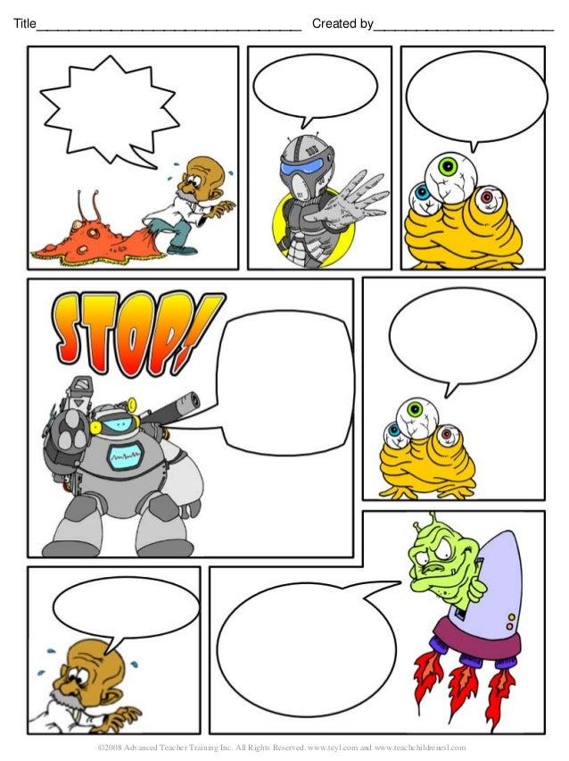 comic strip, Modern powerpoint