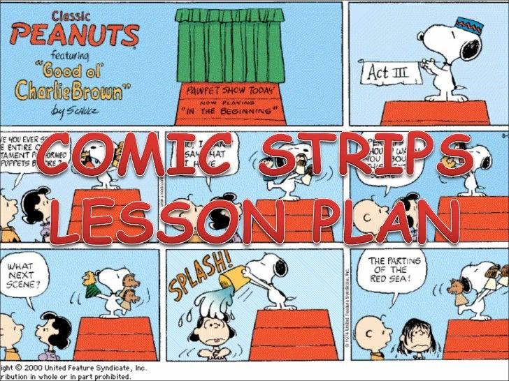 Comic strip - lesson plan