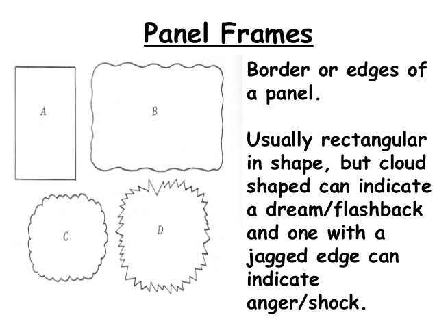 Here is an example ofa standard panelcomic.-Notice how each frameshows an action.-Some frames are ofscenes and others arec...