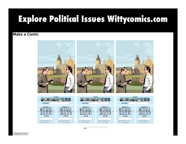 Explore Political Issues Wittycomics.com