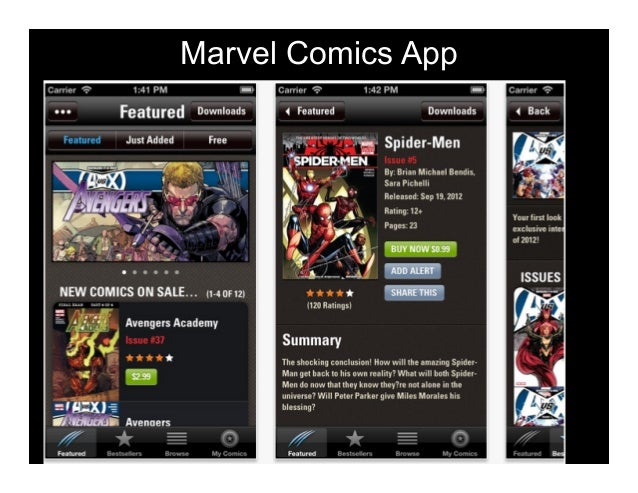 Marvel Comics App  Character Texts  •  tudents get in pairs S •  hey chose character T they want to be •  hey text to each...