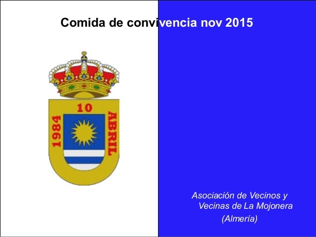 Comida de convivencia nov 2015 Asociación de Vecinos y Vecinas de La Mojonera (Almería)