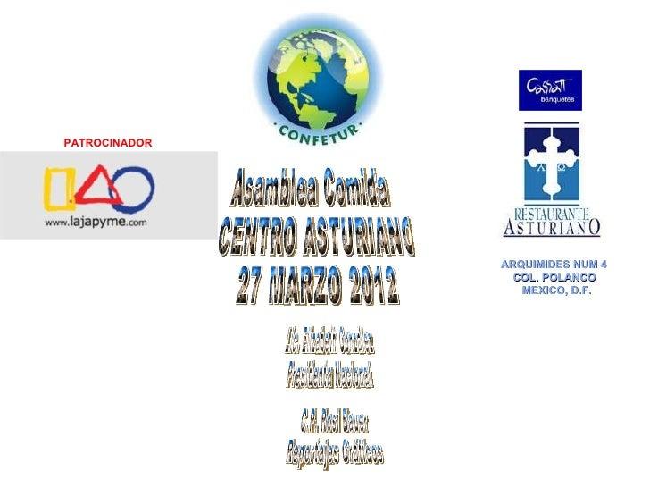 PATROCINADOR               ARQUIMIDES NUM 4                 COL. POLANCO                  MEXICO, D.F.