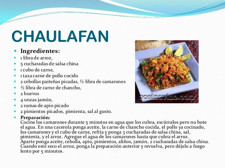 Comida china for Ingredientes para comida