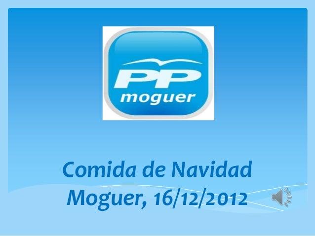 Comida de NavidadMoguer, 16/12/2012